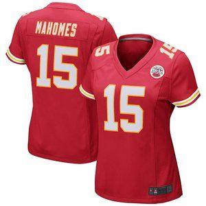 NFL NEW Women's 15# Mahomes Nike Orange jersey
